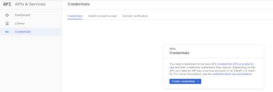 Create Google Credentials